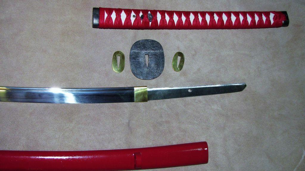 Нодати - японский меч в разобранном виде